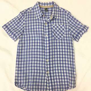 Zara boys checkered polo 7-8