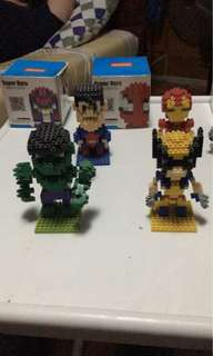Marvel Super Heroes Lego Display Collection