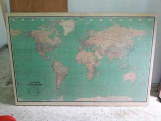 Vintage World Wall Political Map