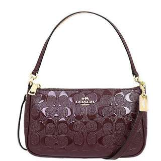 Repriced! Coach Top & Crossbody bag debossed patent leather Oxblood