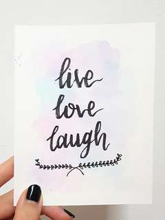 Live Love Laugh • Calligraphy Card