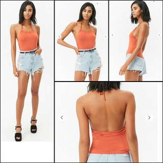 f21 halter cami crop tank top