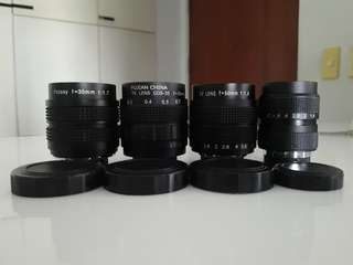 FUJIAN and  FOTASY LENSES (C-MOUNT)