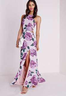 Misguided maxi floral dress