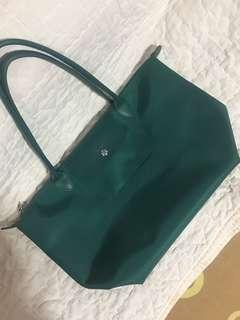 Preloved Longchamp Planetes Large Long Handle Emerald green