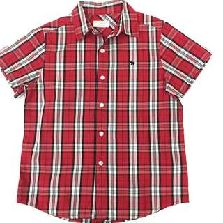 Giordano checkered Red size 130 8-10yo