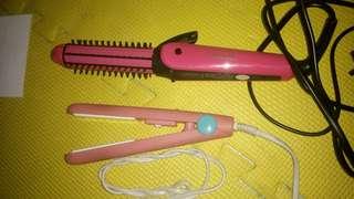 Bundle hair straightener and curler