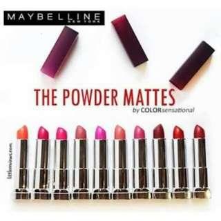 SALE NEW Maybelline Color Sensational Powder Matte lipstick