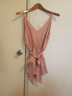 Milk & honey blush jumpsuit