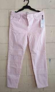 Pink denim pants forever 21 original