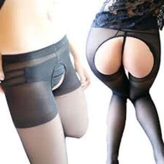 THEVIVISHOP**Sexy Crotchless Sheer Pantyhose