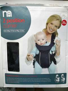NEW   MOTHERCARE 2 Position Baby Carrier - NEW IN BOX