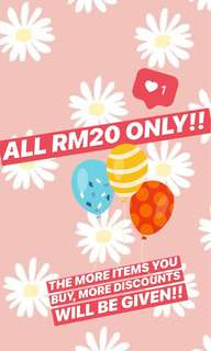 RM20 ONLY! Come check out my listings!