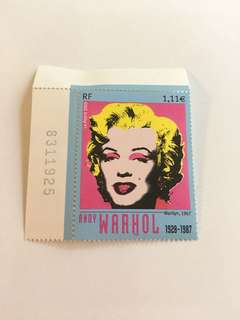 法國郵票Marilyn,1967(designed by Andy Warhol 1928-1978)
