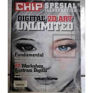 CHIP Magazine Spesial Illustration Digital 2D Art unlimited