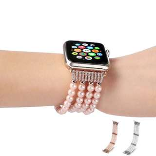 IWATCH REPLACEMENT ELASTIC STRAP - IMITATION PEARL JEWELLERY ELASTIC STRAP