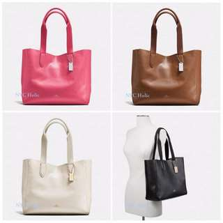AUTHENTIC COACH DERBY LEATHER TOTE  ( F58660  )