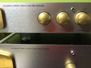 Alchemist Forseti APD 21A Mk2 Pre Amp and APD 20A Power Amp