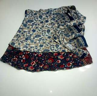 Tree of Life Floral Wrap Skirt