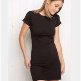 🖤Black T shirt Dress