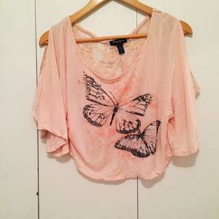 Cold Shoulder Pink And Lace Too