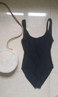 Black Scoopback Monokini