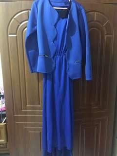 1 set dress+blazer