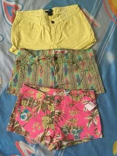 shorts bundle of 3