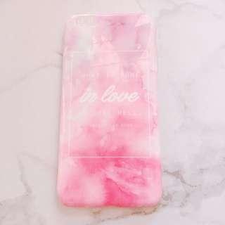 iphone 6/6s plus 粉紅色愛情語錄手機殼 四邊全包軟殼