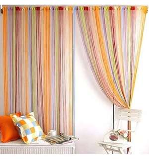 Curtain for doors and windows of multiple colours