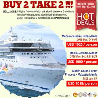Buy 2 Take 2: Super Star Virgo Cruise