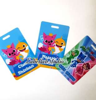 Kids personalise bagtag / luggage tag