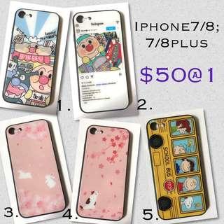 IPhone7/8;7/8Plus玻璃面電話殼