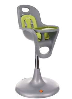 Brand New Boon Flair Pedestal High Chair,Gray/Green