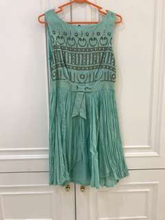 Minty green dress
