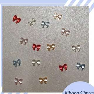 10 Pcs Ribbon Nail Charm