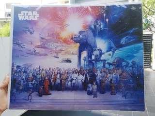 Star Wars Poster Saga Cast