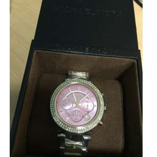 Authentic Michael Kors  Parker Pink  (Chronograph Ladies Watch with box and manual) Negotiable