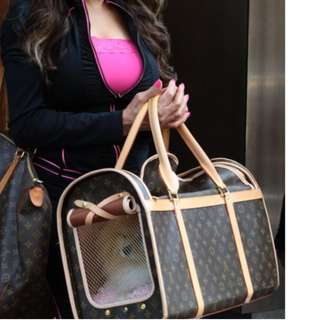 BRAND NEW Louis Vuitton Sac Chien 50 LV Dog or Cat Carrier Bag 50 Monogram  FREE 1d1e4f695cf6a