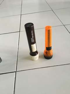 Plastic torch light 2.fir $5