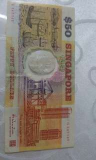 Plastic series $50 old note