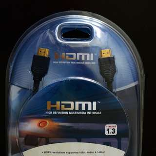 HDMI 1.3 cable, 2m, ENE, gold plated, original packing, never used.