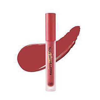etude house matte chic lip lacquer wendy brown (br401)