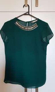 Zara top blouse