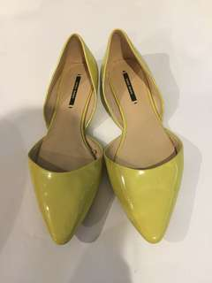 Zara shoes yellow