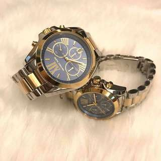 MK COUPLE BRADSHAW AUTHENTIC WATCH