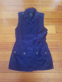 Cotton On Navy Sleeveless Jacket