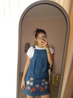Dungaree Jeans / Rok Jeans / Denim Overall Skirt