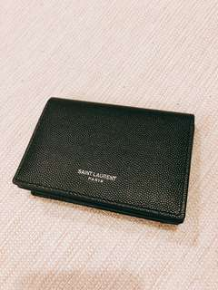 🚚 YSL Saint Laurent聖羅蘭全新經典款黑色名片信用卡萬用夾
