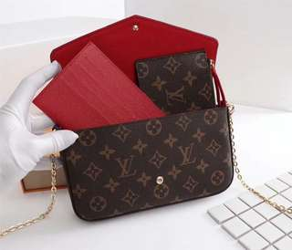 Louis Vuitton Pochette Felicie Chain Wallet Monogram Canvas